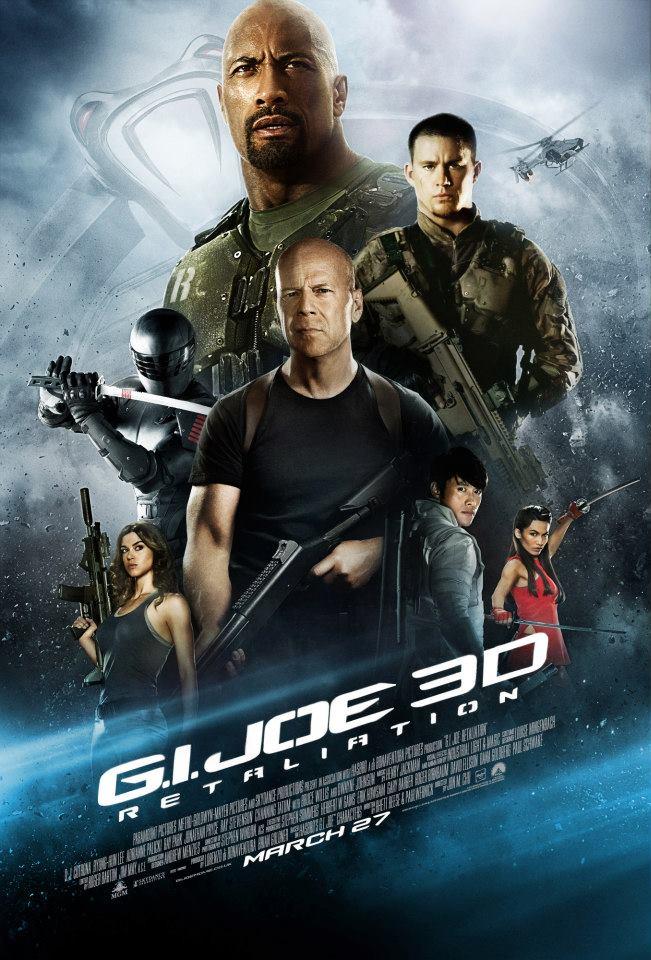 G I Joe 2 Retaliaiton UK Premiere Channing Tatum Bruce Willis Adrianne Palicki