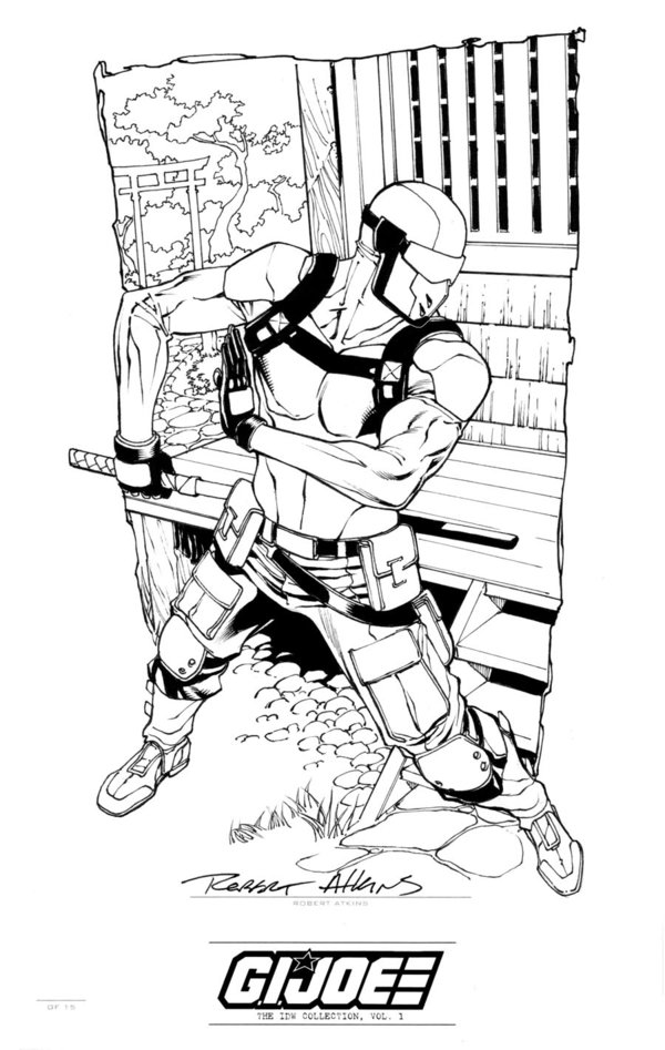 Gi Joe Snake Eyes Coloring Pages  Coloring Pages