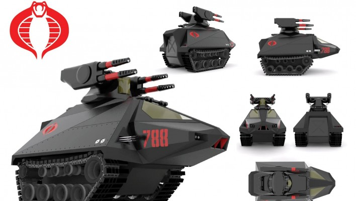 G.I. Joe and Cobra 3D Vehicle Designs by Nogamusprime