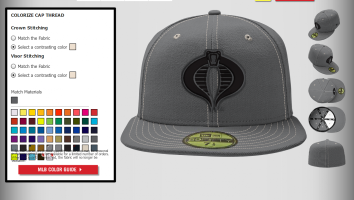 New Era Official Custom G.I. Joe Cobra Hats Made To Order