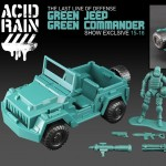 Acid Rain Green Jeep and Commander