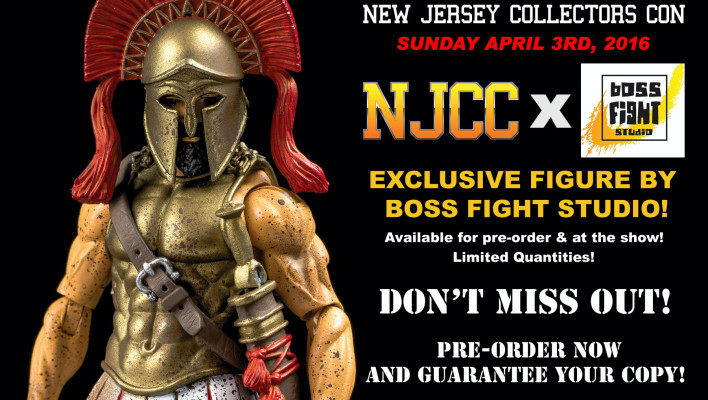NJCC Exclusive Ultimate Spartan by Boss Fight Studio Order Information
