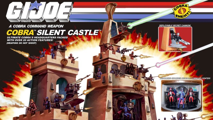 Custom G.I. Joe Diorama Silent Castle Cobra Headquarters