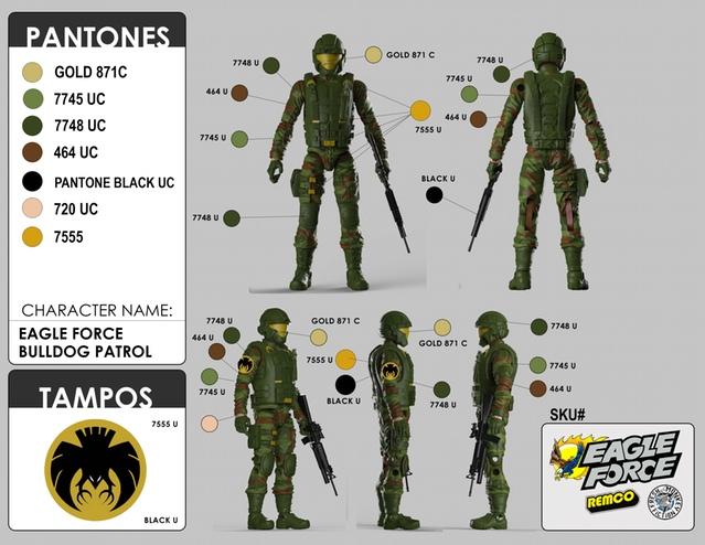 Eagle Force Returns Kickstarter Campaign Update - Color Guides ...