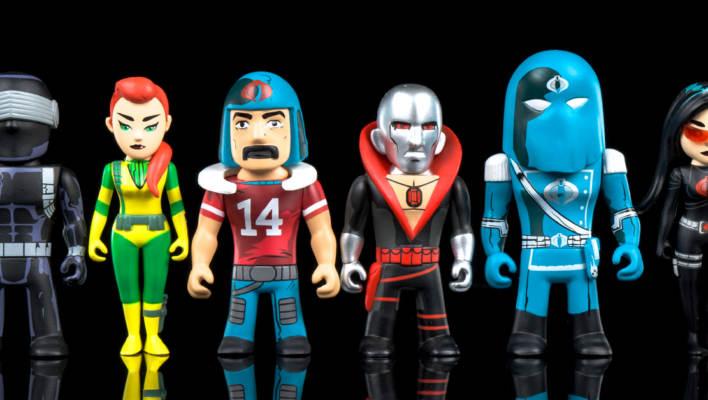Kidrobot Transformers Vs. G.I. Joe Mini Figures Photo Shoot
