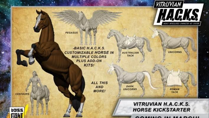 Boss Fight Studio H.A.C.K.S. Customizable Horse