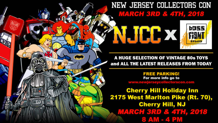 New Jersey Collectors Con Winter Show Update March 3rd and 4th 2018