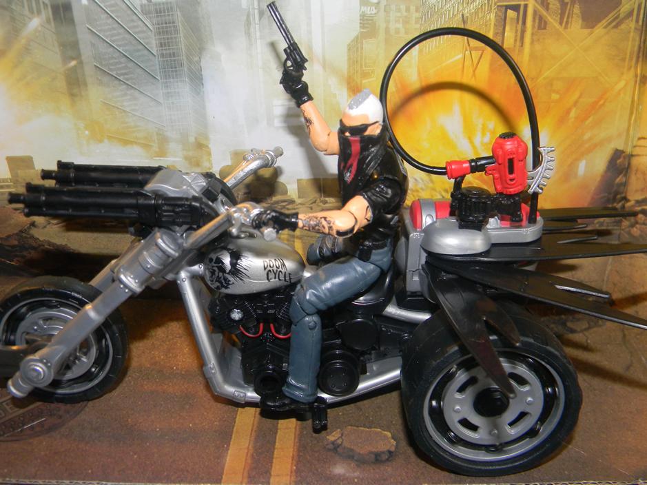 Doom Cycle with Storm Rider V1 Gi Joe Alpha Vehicle