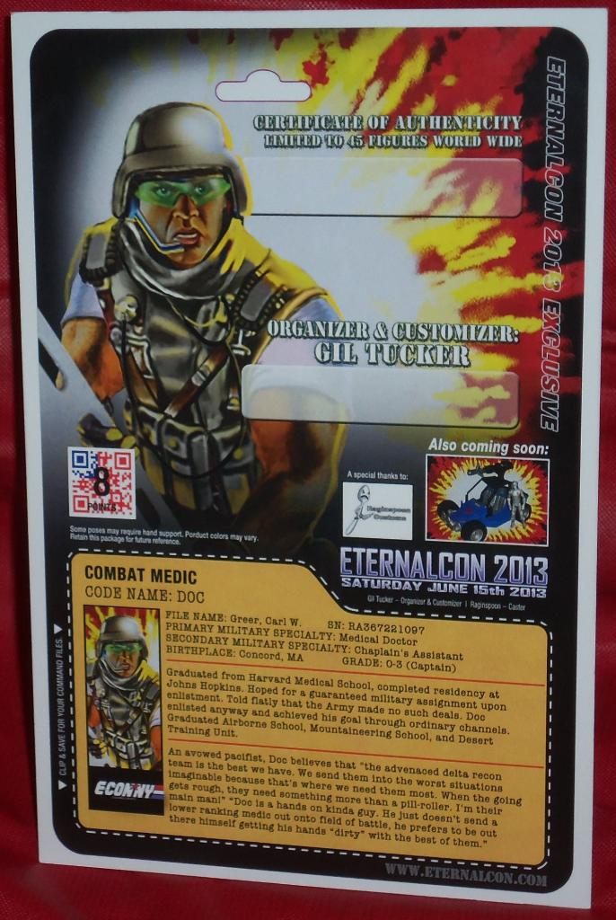 62b7460d9f86 COMBAT MEDIC DOC ETERNAL CON CUSTOM EXCLUSIVE - HissTank.com