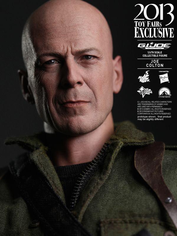 1//6 Scale Toy GI Joe-Joe Colton-Bruce Willis headsculpt
