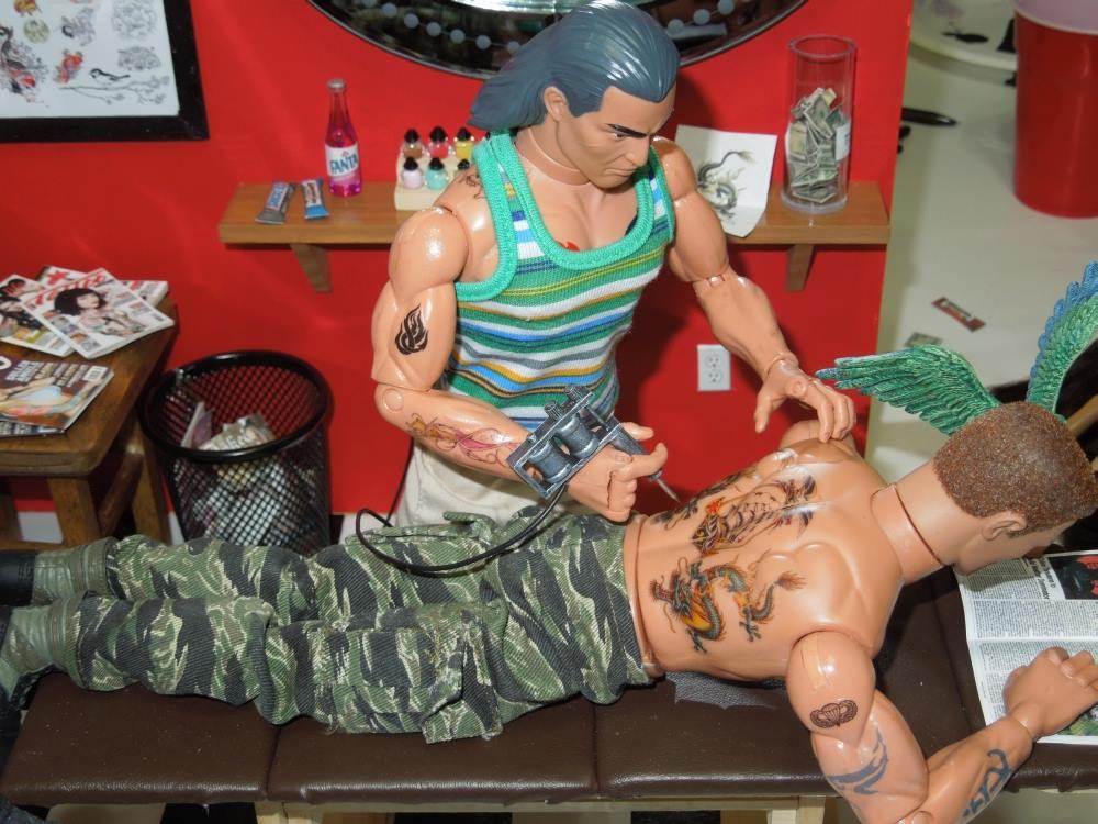 1//6 Scale Custom Tattoos Military pack Waterslide Decals