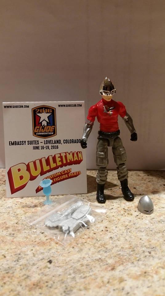 Custom Made Repro Bullet Man ~ Vintage Action Man Hat ~ Bulletman Helmet