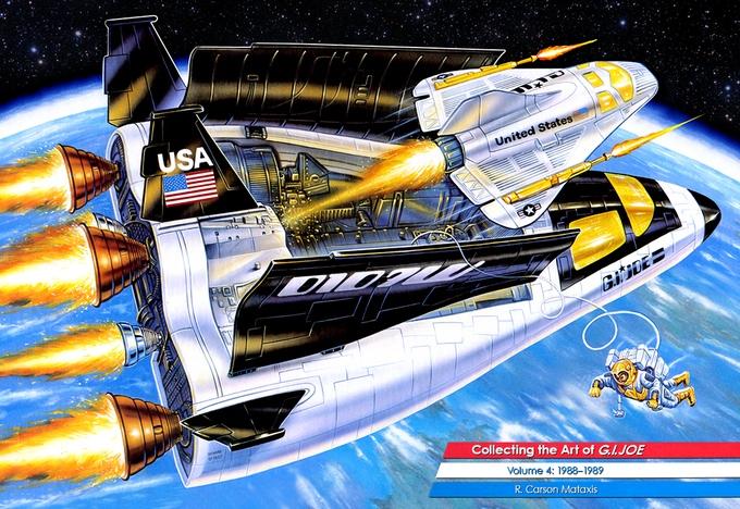 GI Joe 1987 Eliminator BF2000 Missile Rocket  Vintage Vehicle Part Hasbro