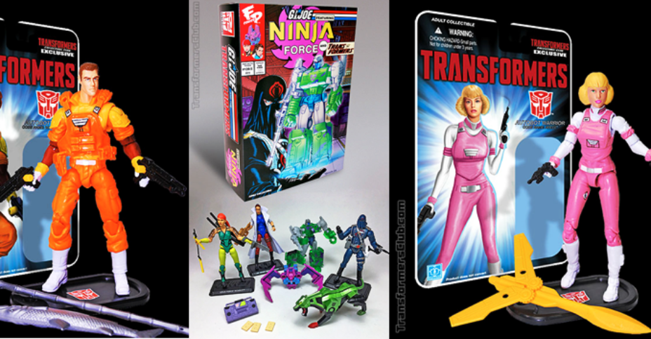 G I Joe vs Transformers Collectors Club Crossovers Now Shipping