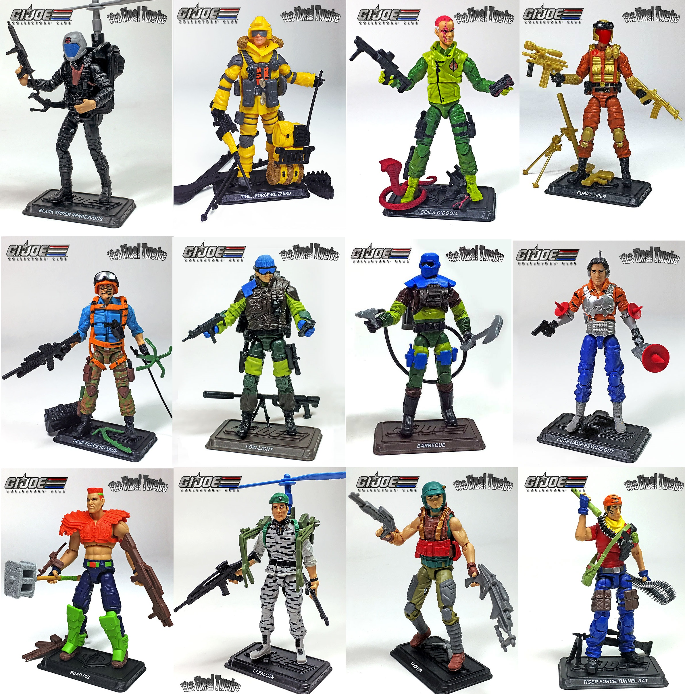 G.I Joe 25th 30th 50th FSS Club Exclusive Final 12 Tiger Force Blizzard MOC